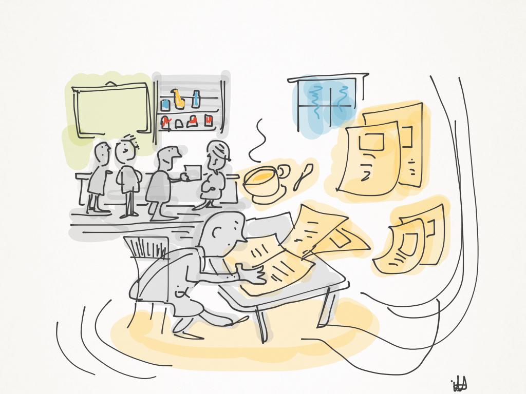 Sistemando i giornali