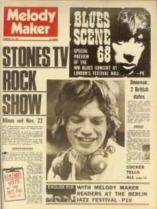 Melody Maker, in copertina Jagger