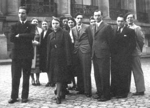 Un giovane Michelangioli durante il concorso in Belgio (1938). Michelangeli, a sinistra, vinse il settimo premio. Il vincitore fu Emil Gilels (Archivio CDABM)
