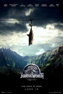 "img. 4 La locandina di ""Jurassic World"""