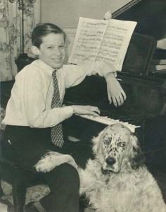 Glenn Gould col suo cane da ragazzo