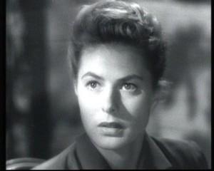 "Ingrid Bergman in una scena di ""Io ti salverò"""