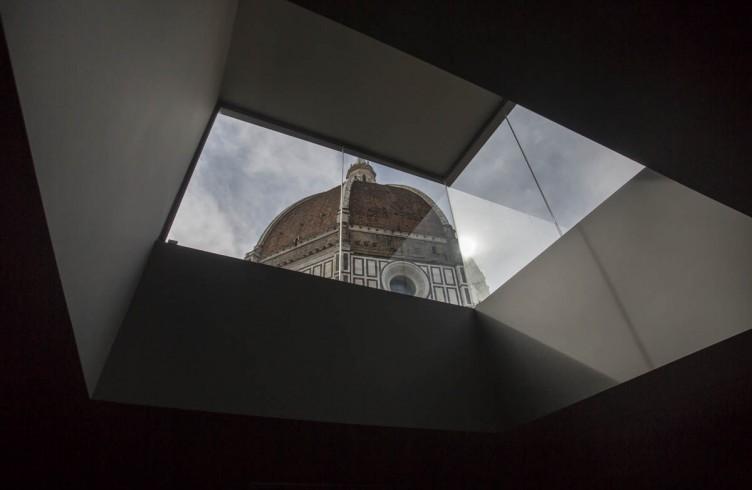 Uno scorcio della Cupola del Brunelleschi dal Nuovo Museo dell'Opera del Duomo