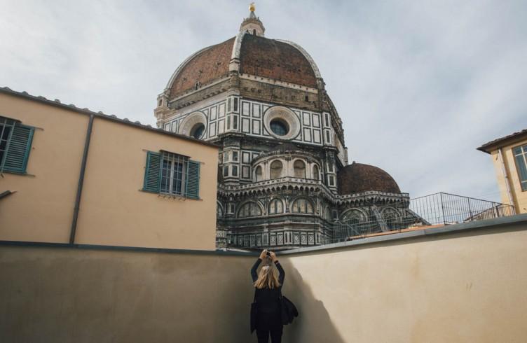 La Cupola del Brunelleschi dal terrazzo del Nuovo Museo dell'Opera del Duomo