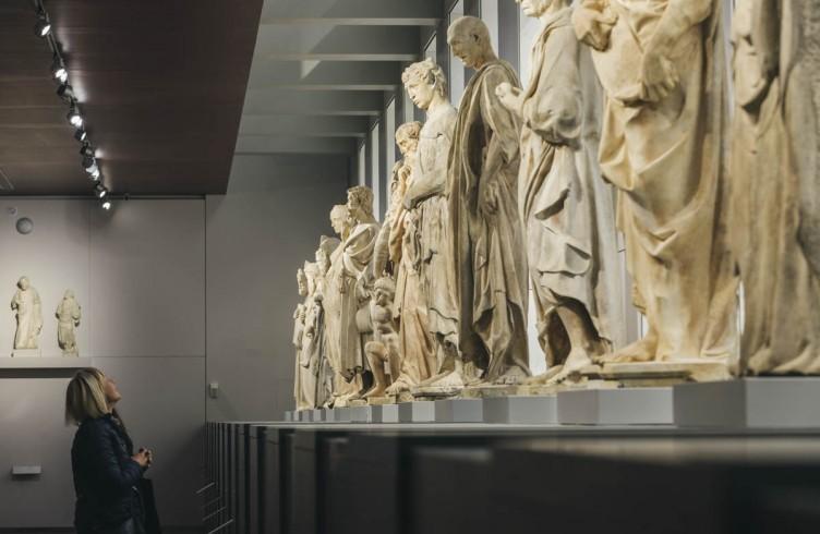 I profeti e il Sacrificio di Isacco nella sfilata delle 16 statue realizzate da Andrea Pisano, Donatello e collaboratori per il Campanile di Giotto