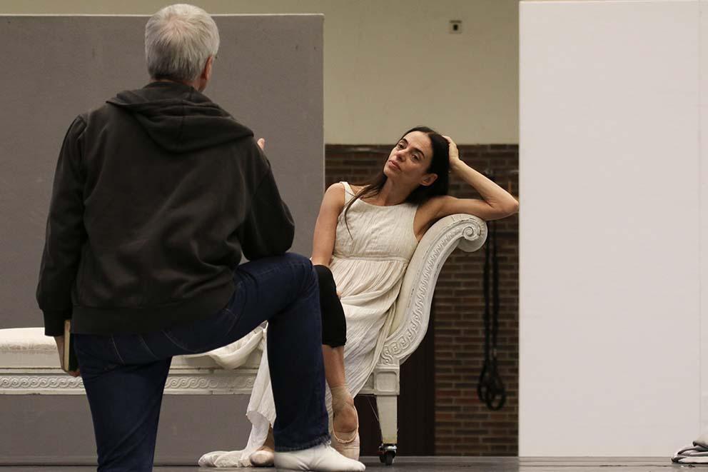 John Neumeier e Alessandra Ferri in prova per 'Duse', foto Holger Badekow