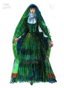Coro Donne, figurino di Angela Buscemi