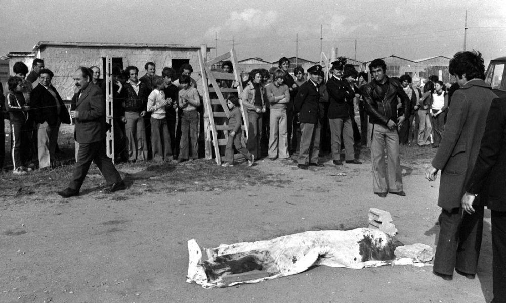 Ostia 2 novembre 1975. foto Ansa