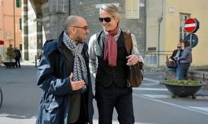 Giuseppe Tornatore e Jeremy Irons sul set de La corrispondenza