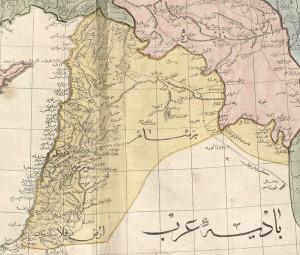 Siria (in giallo) - dall'Atlas-ı Cedid, 1803