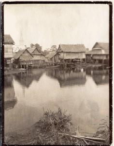 Capanne abitazioni intorno a Bangkok