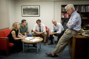 Una scena de Il caso Spotlight, film vincitore del premio Oscar come miglior lungometraggio