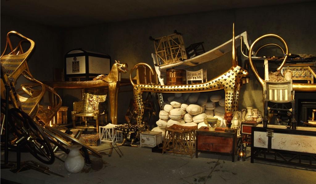 Ricostruzione dell'Anticamera della tomba di Tutankhamon