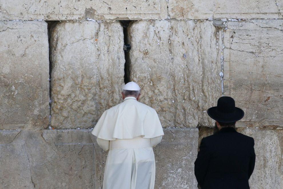 Papa Francesco al Muro del Pianto