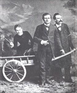 Lou Salomé con Paul Rée e Nietzsche