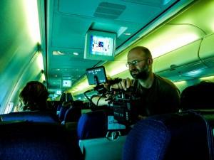 Lorenzo Corvino sul set del suo film.