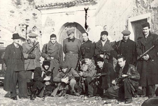 Foto della Banda Collotti 10 gennaio 1945 (archivio IRSMLT)
