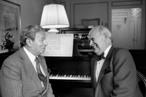 il famoso impresario Harold Shaw con il violinista Nathan Milstein, foto F.Conran/The NYT