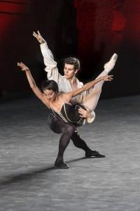 Bolle con Nicoletta Manni in Carmen di Roland Petit, Roma Terme di Caracalla
