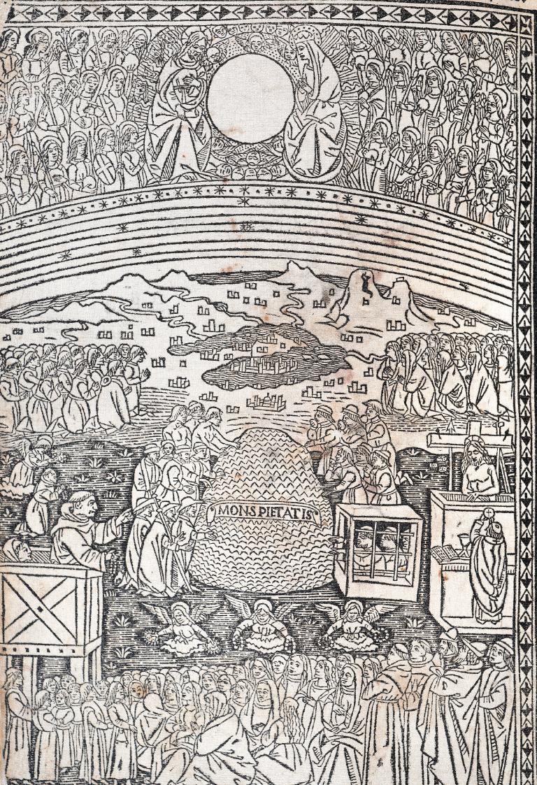 Marco da Montegallo, La tabula della Salute, xilografia da incunabolo, 1494 (Firenze, Biblioteca Nazionale).