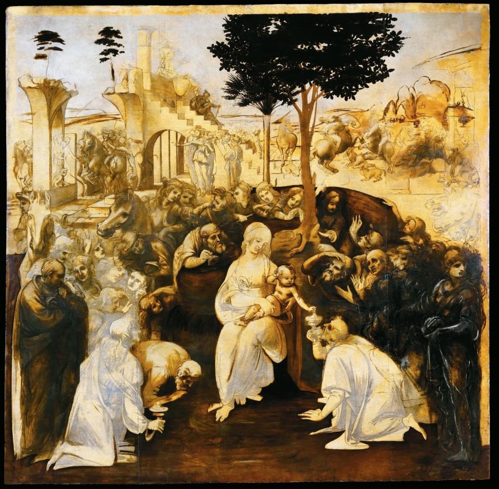Leonardo da Vinci, l'Adorazione dei Magi dopo il restauro