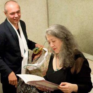 Martha Argerich e Ivo Pogorelich in una recente immagine